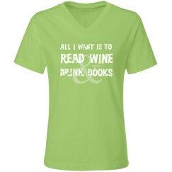 Read Wine V-neck