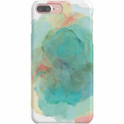 Watercolor Green & Blue Phone Case