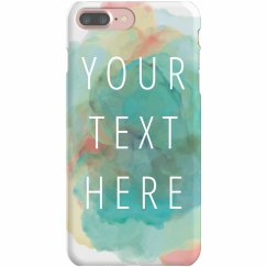 Custom Text Blue Watercolor Case