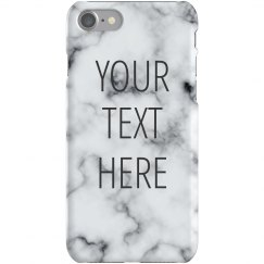 Custom Quote Marble iPhone 6 Case