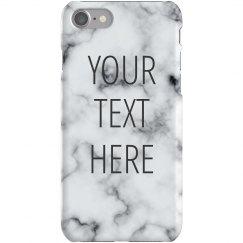 Custom Quote Marble iPhone 6 Case