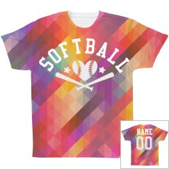 Geometric All Over Print Softball