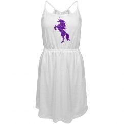 Purple Fire Unicorn Dress
