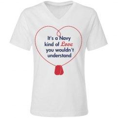 Navy love tee