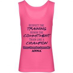 Girl's Champion Tank pink
