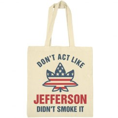 Jefferson Weed America USA Tote