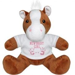 New Baby Girl Plush Bear