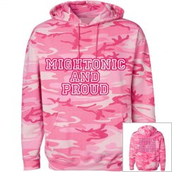 Mightonic Pink Camo Hood