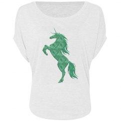 Green Fire Unicorn Shirt