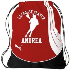Andrea. Lacrosse player