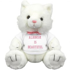 Albinism Is Beautiful- Kitty- White and Pink