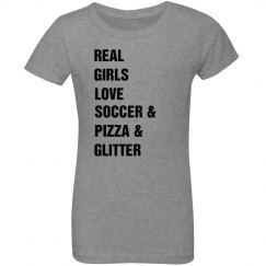 Real Girls Love Soccer Youth Tee