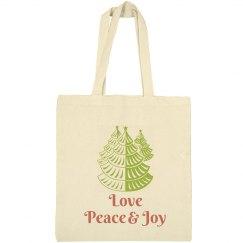 Love Peace Joy Tote Bag
