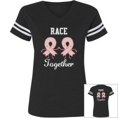 Race Together Fight Together Breast Cancer Tee