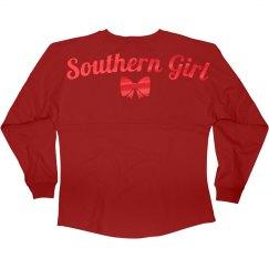 Red Metallic Southern Girl