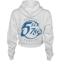 Obsessed Surfer Girl Blue Logo