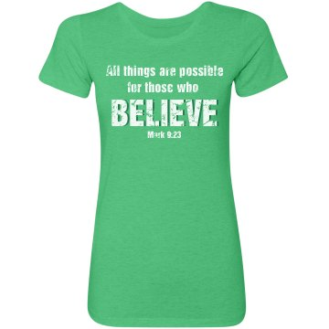 Believe Religious Tee