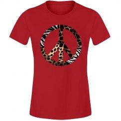Animal Print Peace Symbol
