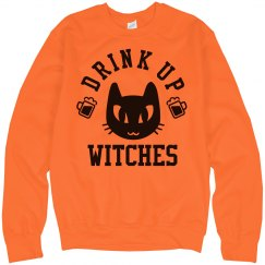 Black Cat Drink Up Witches