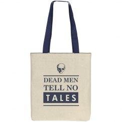 Dead Men Tell No Tales Skull Tote