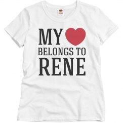 Heart belongs to Rene