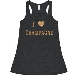 Heart Champagne Gold