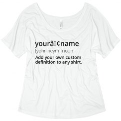 Name Custom Definition