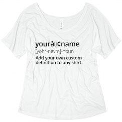 Name Custom Definition