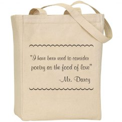 Mr. Darcy Quote Bag