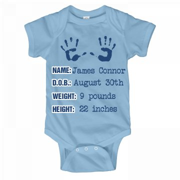 Blue Baby Announcement