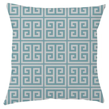 Blue Green Key Pattern Throw Pillow Cover