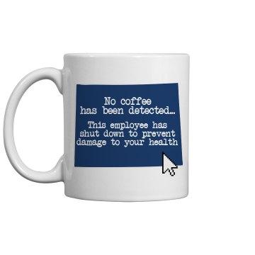 Blue Screen Coffee Mug