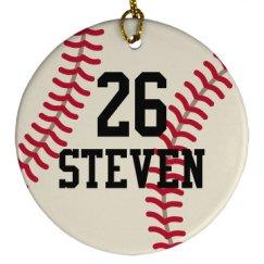Baseball Team Sports Ball Personalized Ornament