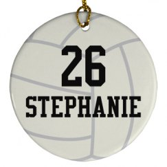 Volleyball Player Personalized Ornament