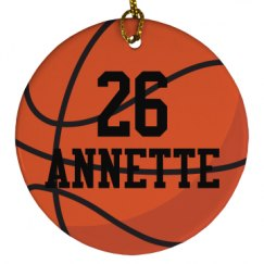 Basketball Team Player Sports Ball Ornament