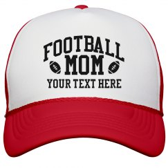 Football Mom With Personalized Text
