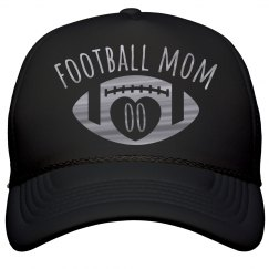 Metallic Silver Custom Football Mom