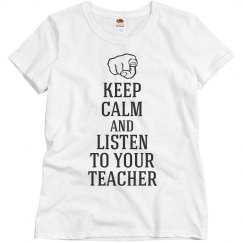 Listen to your teacher