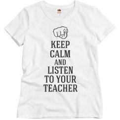 Listen to your teacher
