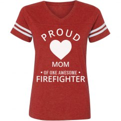 Proud firefighter mom