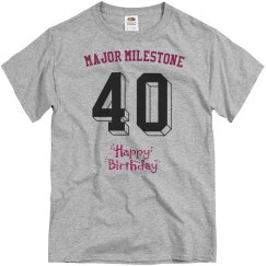 Major milestone, 40th