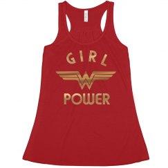 Gold Metallic Wonder Woman Girl Power