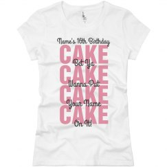 Sweet 16th Birthday Party Shirt