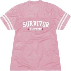 Custom Pink Ribbon Survivor