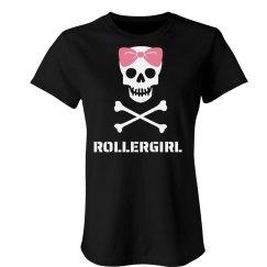 Roller Girl Skull Tee