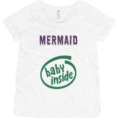 Mermaid Baby Inside Maternity T