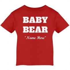 Personalized baby bear