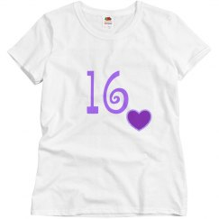 Love 16 Tee Shirt