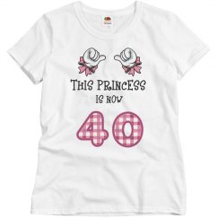 Princess is now 40