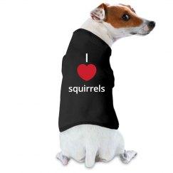 I heart squirrels shirt